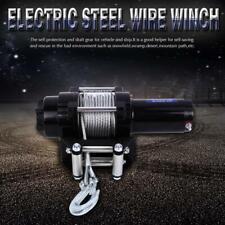 12V 4000lb Treuil de électrique  en câble acier de treuil pour bateau voiture