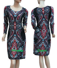 Polyester Knee-Length Shift Dresses for Women