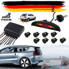 8 Sensoren Einparkhilfe KFZ Auto Rückfahrwarner Rückfahrsystem Parksensoren PDC