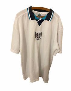 ENGLAND 1995/1996/1997 HOME FOOTBALL SHIRT JERSEY 3XL SCORE DRAW RETRO REPLICA