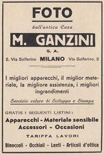 Z3893 Foto dall'antica casa M. GANZINI - Pubblicità d'epoca - 1932 advertising