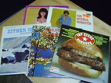 33 RPM Records GERMAN Collectible Vintage Lot Of 5 Vinyl LPs