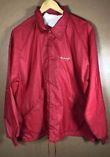 Smirnoff Ice Rain Jacket Coat Windbreaker - Red Size XL Vintage Vodka