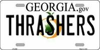 Thrashers Georgia State Background Novelty License Plate