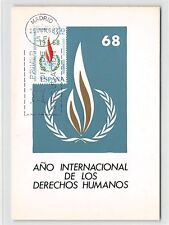 Spain MK 1968 Human Rights ONU Diritti dell'Uomo carte MAXIMUM CARD MC cm d9835