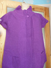 TOMMY & KATE PURPLE SHORT SLEEVE  CARDIGAN NWT UK SIZE 4