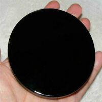 100mm Black Obsidian Scrying Mirror Crystal Gemstone Mineral Specimens Stone USA