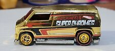 Hot Wheels 77 Dodge Van Super Chromes * UNSPUN * Real Riders - Gold