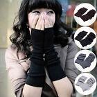 Fashion Women's Girls Winter Soft Arm Warmer Long Fingerless Gloves Mittens Hot.