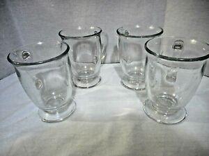 Set Of 5 Clear Anchor Hocking Mugs Cups C Handles 12oz. Pre-owned Heavy Duty Mug