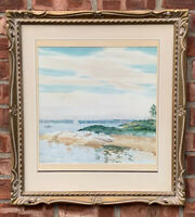 C1915 New Jersey American Impressionist Painting. Edward Dufner Sailing On River
