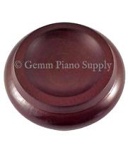 "Gemm Piano Hardwood Maple Caster Cups, Mahogany, 3-1/2"" x 2-3/8"""