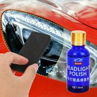 30ML 9H Auto Car Headlight Len Scratch Repair Liquid Polish Cleaning Tool Kits