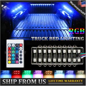 8 pods RGB LED Truck Bed Light Lighting Kit Tonneau Cover Rail Cargo Lights