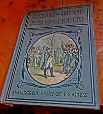 1900 SALESMAN'S SAMPLE The History and Triumphs of 19th Century, Charles Morris