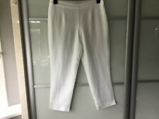 East Capri pants three quarter length white trousers 100% linen size 10 bnwt