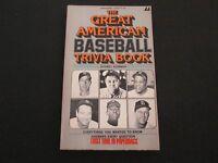 1977 The Great American Baseball Trivia Book Aaron, Mays, Musial, Gehrig RARE