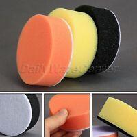 """3pcs 3"""" Flat Sponge Foam Car Polishing Waxing Buffing Pads Care Cleaning Tool"""