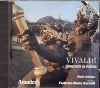 Vivaldi : Concerts Di Paris / Federico Maria Sardelli, Modo Antiquo - CD