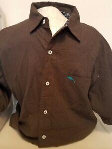 NEW Bob Timberlake Men's Hawaiian Short Sleeve Button Up Shirt Size Large