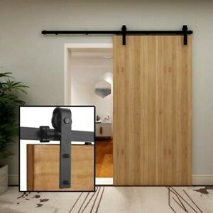 TSMST 9.6ft Sliding Barn Door Hardware Kit Closet Track Roller Accessory
