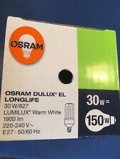 Osram Dulux el Longlife 30W / 2700k Lumilux Blanco Cálido E27 30W 1940 Lumen