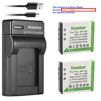 Kastar NP-50 Charger Battery for Fujifilm F800EXR F850EXR F900EXR REAL 3D W3 X10
