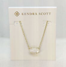 Kendra Scott Ever Pendant Necklace In Ivory Pearl / Gold