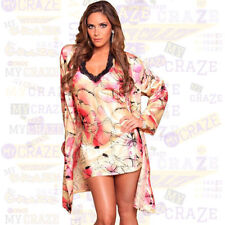Floral Polyester Robes for Women