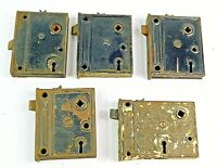 Vintage Mortise Locks Lot of 5 Unknown Brand No Keys Interior Old Antique Locks