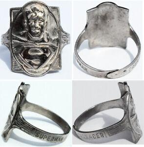 1946 Superman Ring Kellogg's Pep Cereal Premium