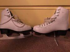 Girls size 2 Ice Figure Skates white boot