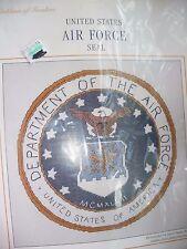 "'CROSS STITCH KIT UNITED STATES AIR FORCE SEAL 8"" X"