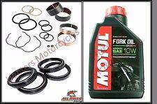 Honda CBR600RR de 2005 a 2012 Sellos De Horquilla Arbustos horquilla delantera y el Polvo SELLOS & Aceite de Horquilla