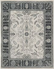 """Restoration Hardware Nava Taupe Hand Knotted Rug 2'9""""x9' Wool"""