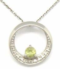 Collares y colgantes de joyería verde colgante de plata de ley