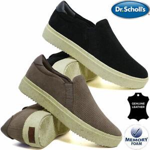 Dr Scholl Ladies Memory Foam Leather Shoes Slip On Sneaker Skate Trainer Pumps