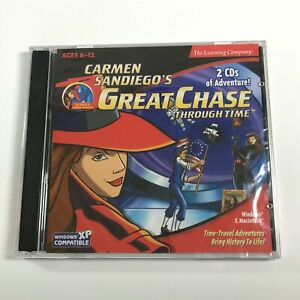 Video Game PC Carmen Sandiego's Great Chase Through Time 2 CDs 1999 NEW SEALED