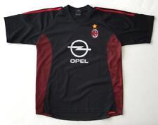 AC Milan Black Mens Large Shirt Jersey Opel Logo
