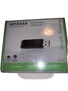 NETGEAR N150 Wireless WiFi USB Adapter Brand NEW In Factory Sealed Box!