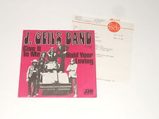 "The J. GEILS BAND - 7"" SINGLE + STAMPA-info-give it to me-Hold Your Loving"