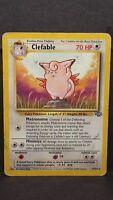 Pokemon Card Clefable 17/64 Jungle Set Rare Damaged