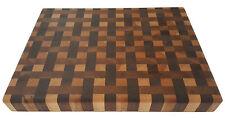 Cherry Maple Walnut Butcher Block Weave Designed Cutting Board NEW end grain