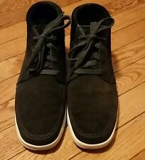 Mens Clae Black Suede Sneakers Size 8