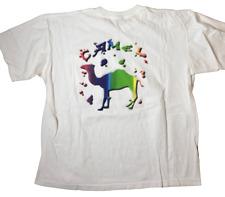 '96 CAMEL CIGARETTE VINTAGE T-Shirt Single Stitch Large WHITE 1996 USA BOXY