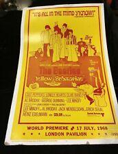 Vintage Original Beatles Yellow Submarine Movie Poster London 1968 ORIGINAL