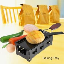 Steel Non-stick Cheese Mini Oven Raclette Tray Stove Grill Plate Baking Tool