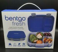 NIB Bentgo Fresh Blue Leak-proof Versatile 4 Compartment Lunch Box School Work