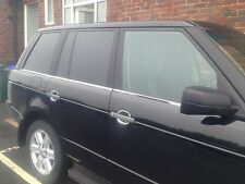 RANGE ROVER VOGUE L322 WINDOW STRIPS,CHROME STAINLESS STEEL 2002+ .