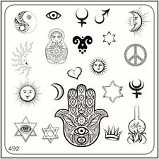 MoYou Nail Fashion Stamping Nail Art Image Plate 492 Ethnic Style Multicultural